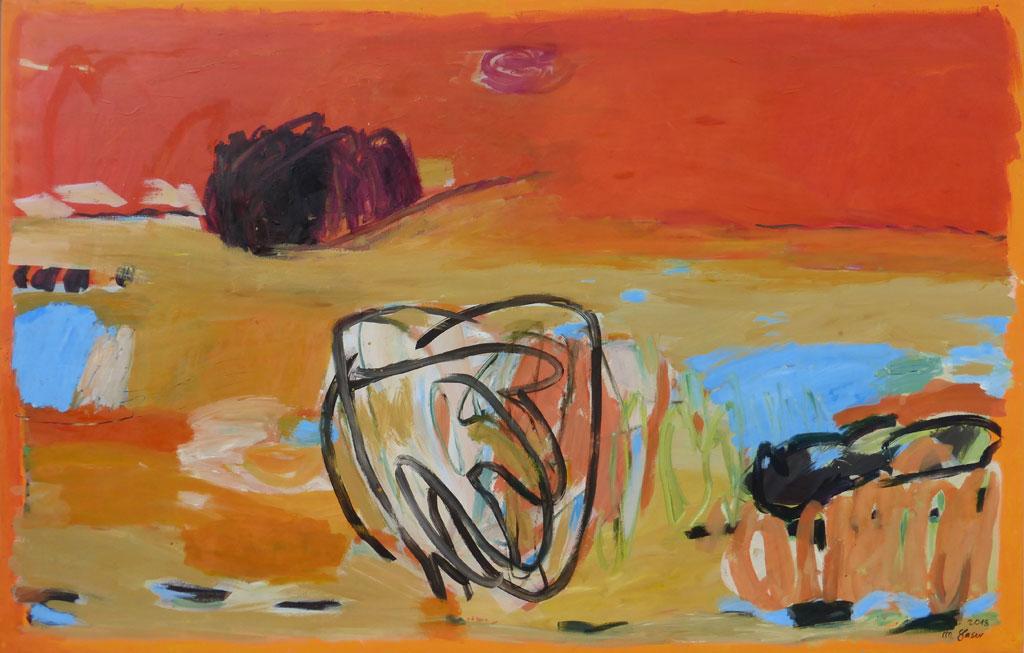 'Nebel', ELS-Gedicht, 2018-1, 140x220 cm