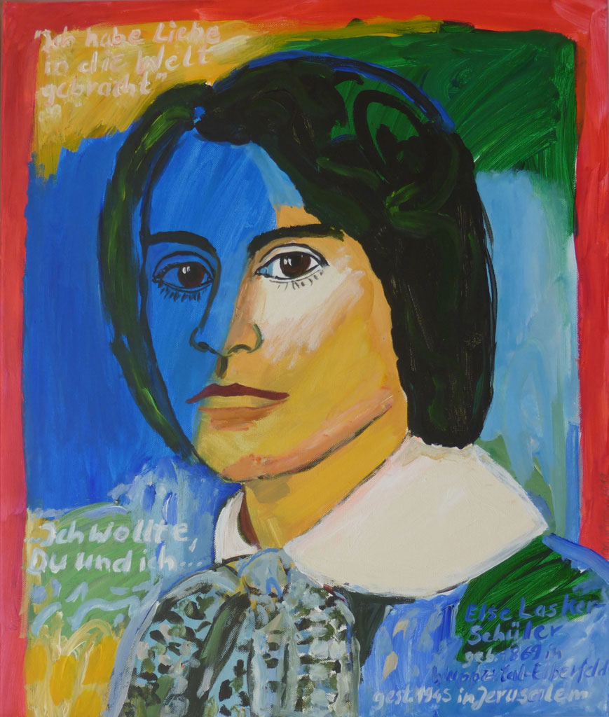 Portrait Else Lasker-Schüler, 2019, 60x50 cm, Öl-Lwd
