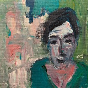 Anna, Acryl auf Leinwand, im Rahmen 30x30 cm, 2021