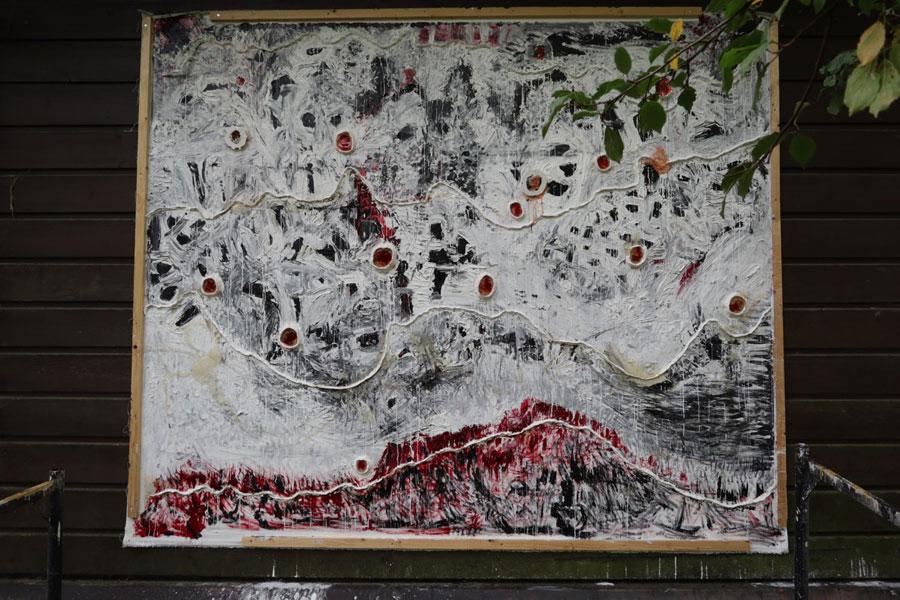 """""""Utopia 3"""" Öl/Epoxydharz auf Leinwand 3,20 x 280"""