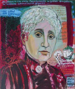 Portrait Bertha Pappenheim, 2019, x 50 cm. Öl-Lwd