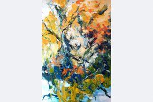 """Eva Hoppert, """"Den Moment einfangen I"""", Acryl auf Leinwand, 100x70cm, 2020, € 1.700, www.evahoppert-art.de"""
