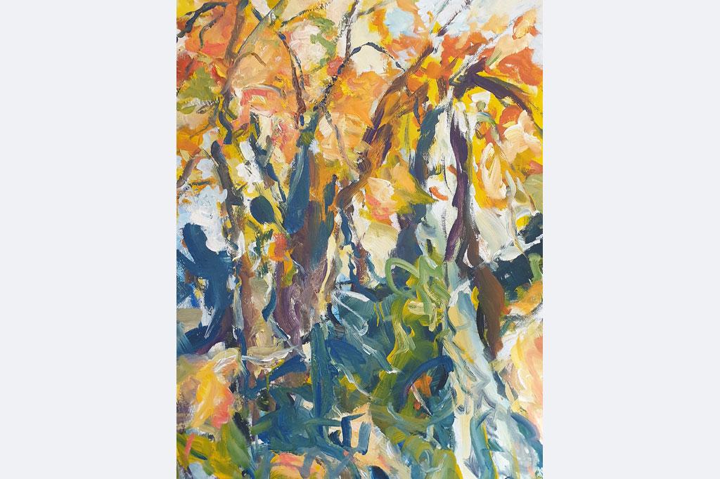 "Eva Hoppert, ""Den Moment einfangen II"", Acryl auf Leinwand, 100x70cm, 2020, € 1.700, www.evahoppert-art.de"