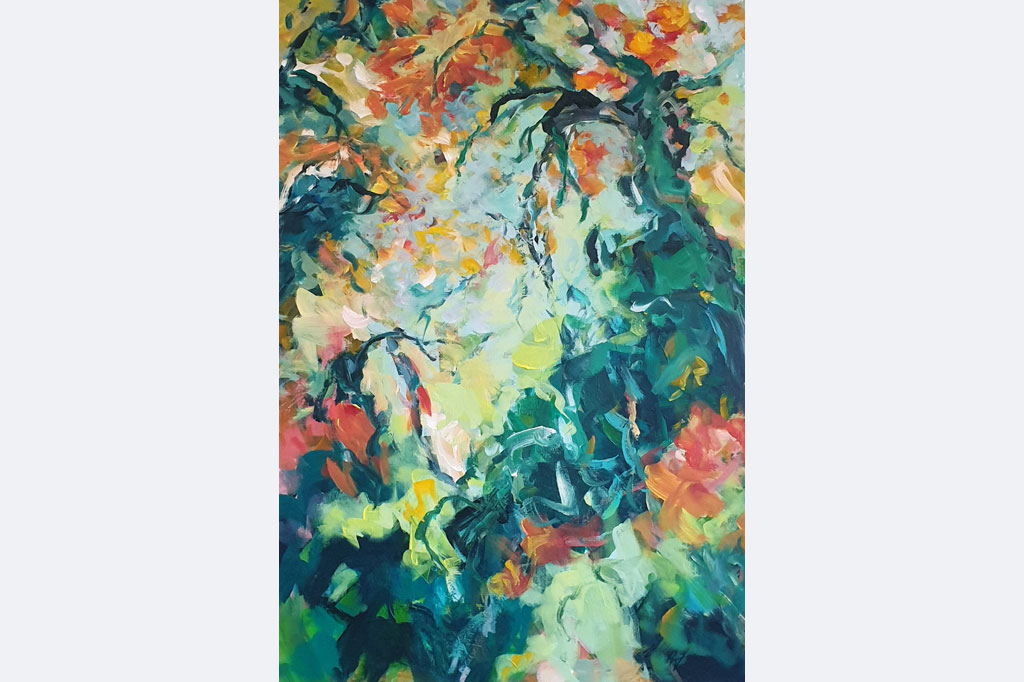 "Eva Hoppert, ""Den Moment einfangen III"", Acryl auf Leinwand, 100x70cm, 2020, € 1.700, www.evahoppert-art.de"