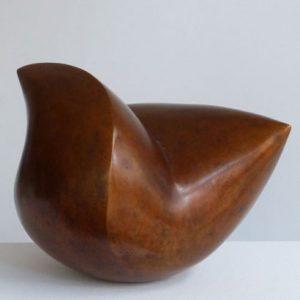"""Zwei Spitzen"", Bronze, 2019, ca. 37x29x29 cm"