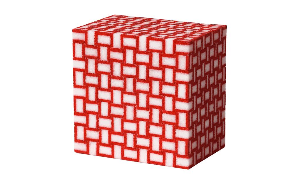 Würfel, 2012, Zucker, Acryl, Lack, 14,5 x 14,5 x 10 cm