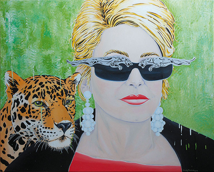 Hommage Catherine Deneuve - 2019 - oil on canvas- H 80cm x B 100cm