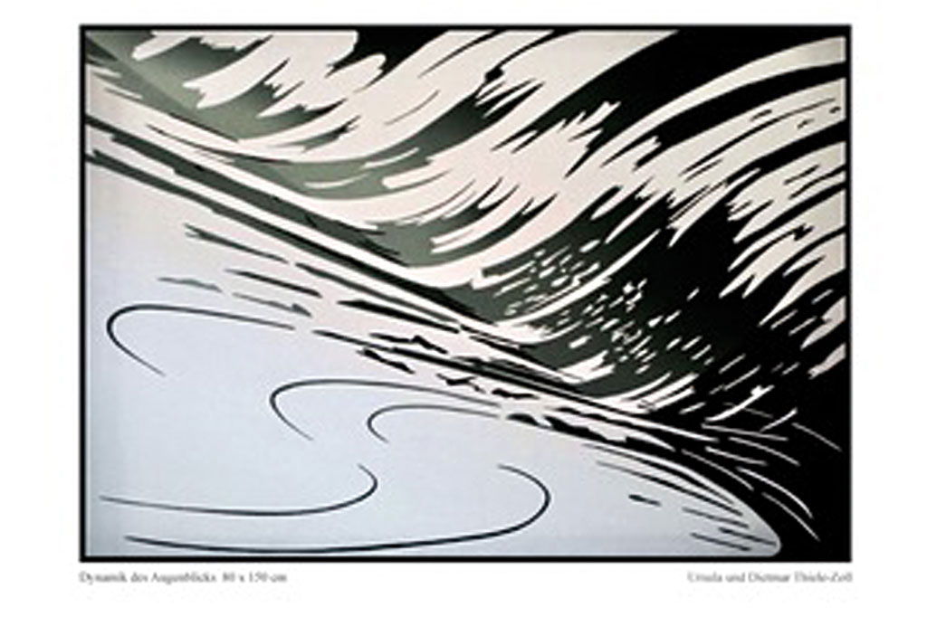 "Thiele-Zoll, ""Dynamik des Augenblicks A"", Acryl auf Leinwand"