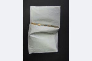 Jürgen Cornelius Ernst, Wandobjekt, Papier/Lack/Schlagmetall, 10 x 6 x 4 cm, 80.- €, 0174 7305118