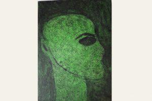 """Kopf"", Christine Kirschbaum, Collagrafie (Unikat), 0x60cm"
