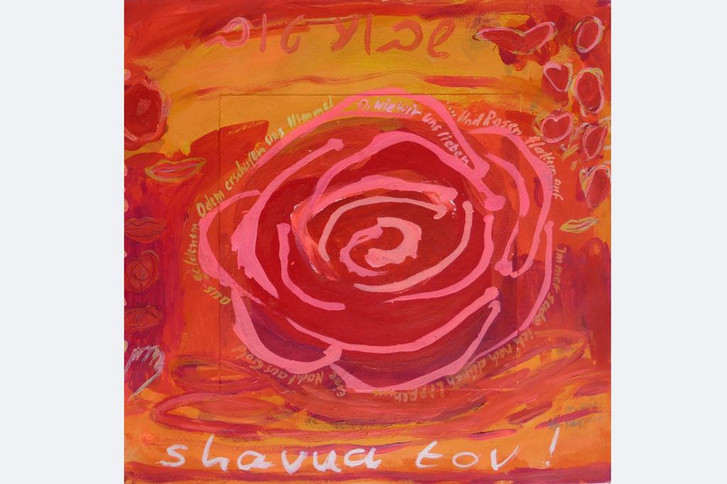 Marlis Glaser, SHAVUA TOV, EINE GUTE WOCHE, 9 - 2020 'ein Liebeslied' (Gedicht von Else Lasker-Schüler, 75. Todesjahr)