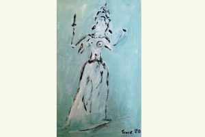 Elke Traue, Göttin Ardhanareeswara (steht im Hinduismus für männliche und weibliche Energie)