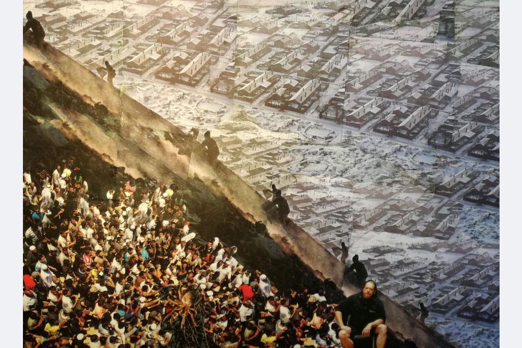 Myrah Adams: Gefährten des Sisyphos, 2021.007 Collage, 50x70 cm, 700,- €