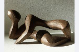 """Wiebke Bader, """"Im Einklang"""", Bronze, 14 x 30 x 12 cm"""