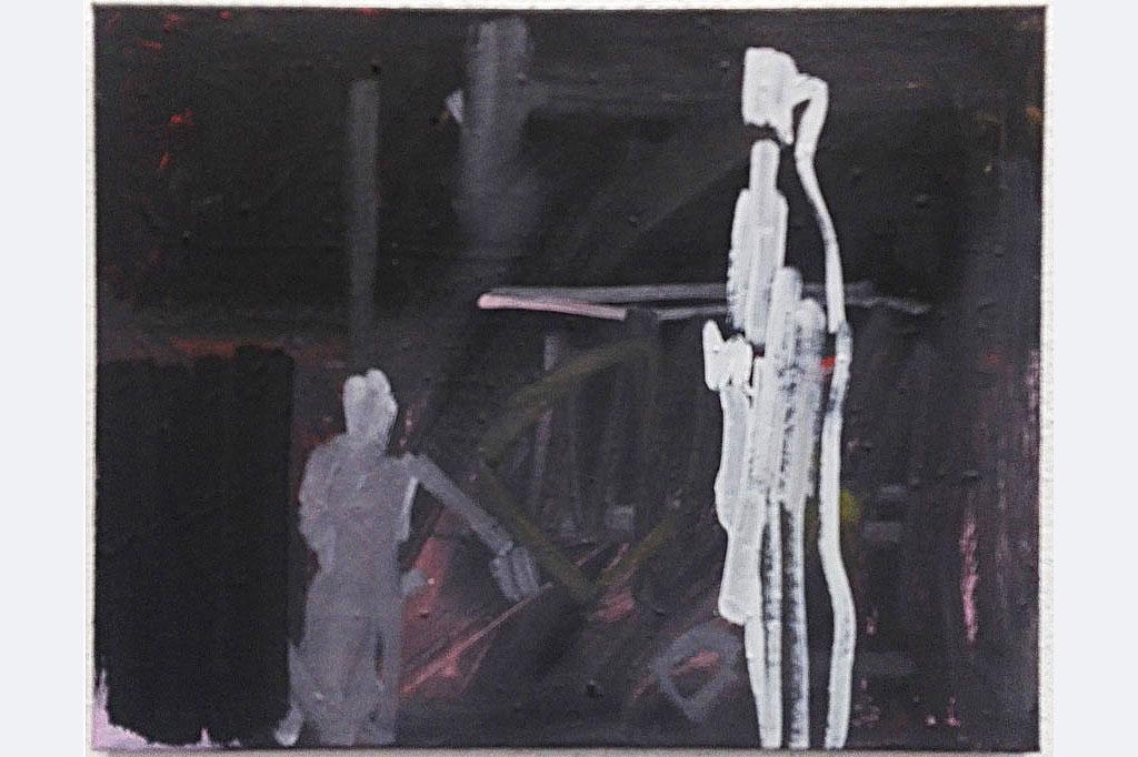 """Pit Degendorfer, """"die Figur"""", 40 x 50 cm"""