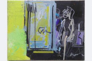 """Pit Degendorfer, """"die Figur"""", Öl auf Holz, 40 x 50 cm, 280 Euro"""