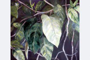 """Gabriele Einstein """"verde VI"""", 130 x 150 cm, Öl auf Leinwand"""