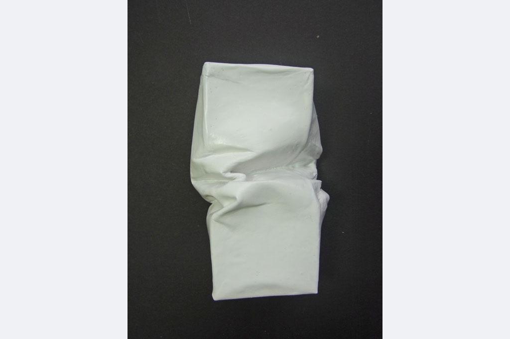 Jürgen Cornelius Ernst, Wandobjekt, Papier/Lack/Schlagmetall, 10 x 6 x 4 cm 80.- €, 0174 7305118