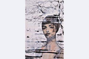 Alexandra Gebhart, Alma Acryl auf Fotografie 50 x 70