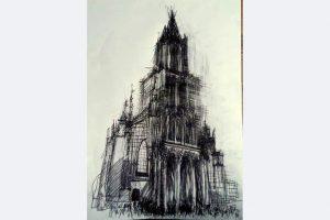Andrea Jakob, Sonntag, 60 x 43, Bleistift auf Papier, März 2021