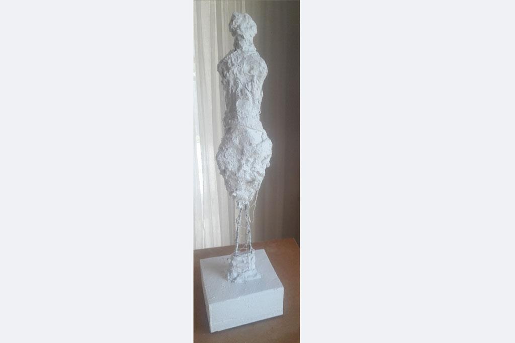 'Figur' Christine Kirschbaum, Gips, Höhe 40cm