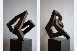 Norbert Klaus, LIED-S145-20, 45 x 34 x 36 cm, Holz, Farbe