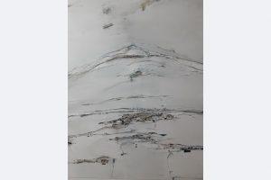 """Hans-Jürgen Knupfer, """"Winter in Oberschwaben"""", 2020, Malerei auf Leinwand, 80x100cm"""