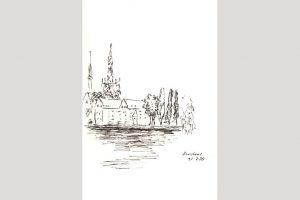 """Elke Traue, """"Konstanz"""", 2020, 14 x 21 cm, Zeichnung, 40.- €, 01624587977"""