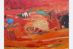 Marlis Glaser, 2020, 'Mohn und Gedächtnis', zu P. Celans Gedicht 'Corona' 120x160, Öl-Lwd