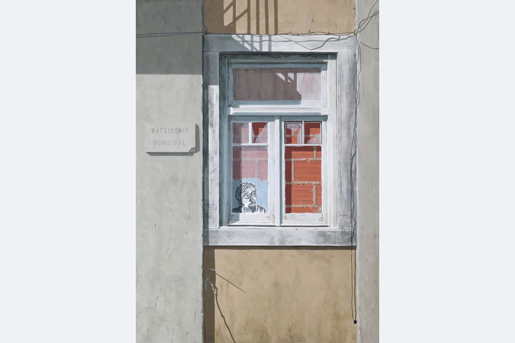 "Gerda Raichle, ""Lisboa '21"", Mischtechnik auf HDF, 70 x 50 cm, 2021"