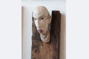 """""""ob er sich dran verschluckt"""", Walter Rockenbauch, 47X18X12 cm"""