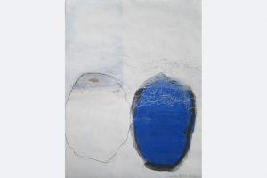 """Ursula Sihler-Steidl, """"Nicht zu erkennen…"""", Acryl/Farbstift auf Papier 80x50 cm, 2020, 400 €, 015144570392"""