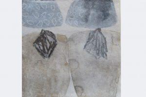 """ursula sihler-steidl, """"Arbeit für verschobene Ausstellung"""", 15x15 cm, aquarell, graphit, 2020"""