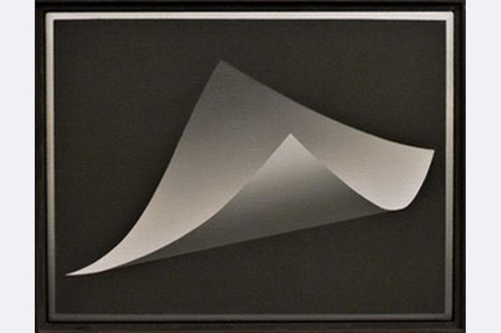 "Thiele-Zoll, Acryl auf Leinwand, ""Leere Botschaft"", H 25 cm x B 32 cm, gerahmt 600 €"
