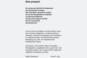 "Sibylle Tiedemann ""time present"" Covid19 - 2020 Fotografie"
